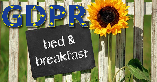 GDPR per bed and breakfast
